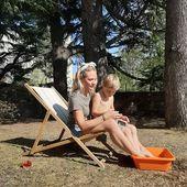 Système D ☀️ #laviecontinue #momentdebonheur #familytime #sunbath #happytime #myson #kid #mum #mumlife #mumandson #sunnyday