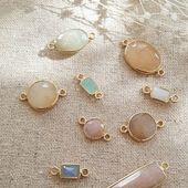Les pierres reviennent de la dorure ♡ #stones #semipreciousstones #jewels #jewelry #newcollection #spring #pastels #sirjane #sirjanebijoux #handmade #madeinfrance #createur #bijouxdecreateur #artisan #artisanat #artisanatfrançais #faitmain